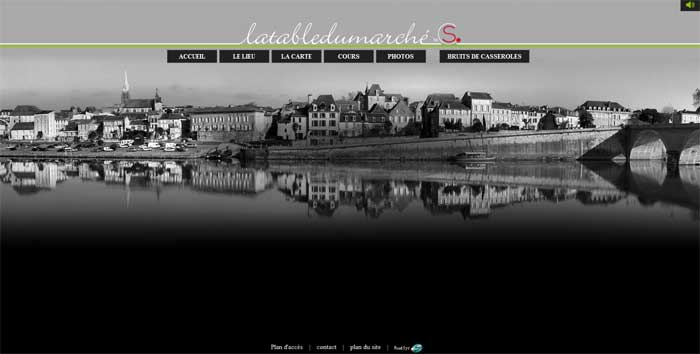 Stephane cuzin met la table sur le web point sys - La table du marche bergerac ...
